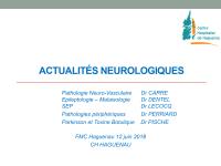 Actualités neurologiques