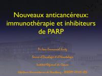 Nouveaux anticancéreux : immunothérapie et inhibiteurs de PARP