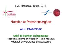 Nutrition et personnes âgées