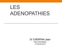 Les adénopathies