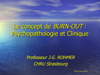 Le concept du burn-out : psychopathologie et clinique
