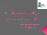 Actualités en cardiologie