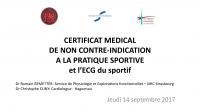 Certificat médical de non contre-indication à la pratique sportive