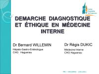 Démarche diagnostique et éthique en médecine interne