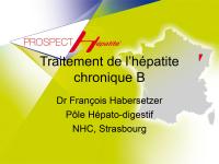 Traitement de l'hépatite chronique B