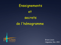 Enseignements et secrets de l'hémogramme