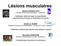 Lésions musculaires